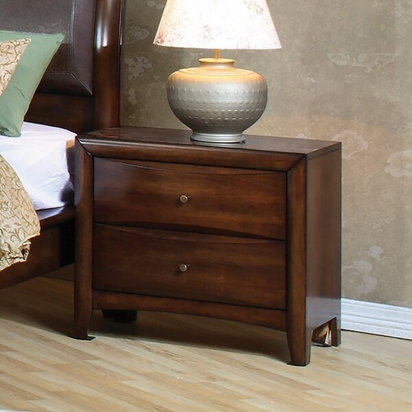 Carnsampson Wooden 2 Drawer Nightstand by Ivy Bronx