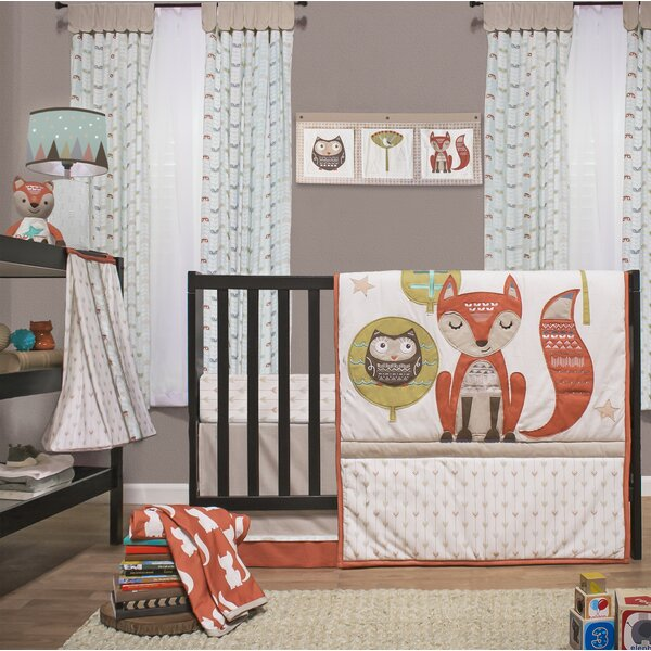 Clever Fox 4 Piece Crib Bedding Set by Little Have