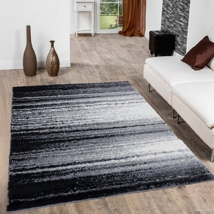 Look for High Pile Posh Shaggy Brush Streak Printed Grey Area Rug ByAllStar Rugs