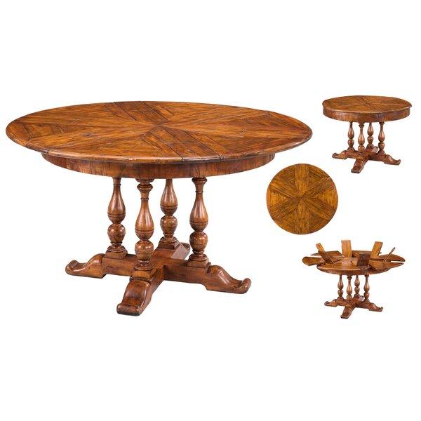 Walnut Jupe Extendable Solid Wood Dining Table by Sarreid Ltd
