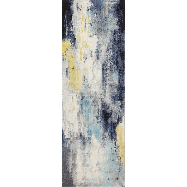 Heilman Ivory/Blue Area Rug by Wrought Studio