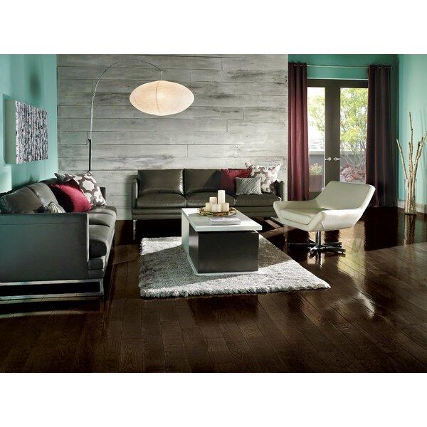 Prime Harvest 5 Solid Oak Hardwood Flooring in High Glossy Blackened Brown by Armstrong Flooring