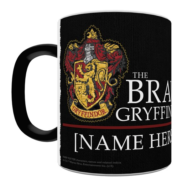 Harry Potter Gryffindor Robe Personalized Heat Sensitive Coffee Mug by Morphing Mugs