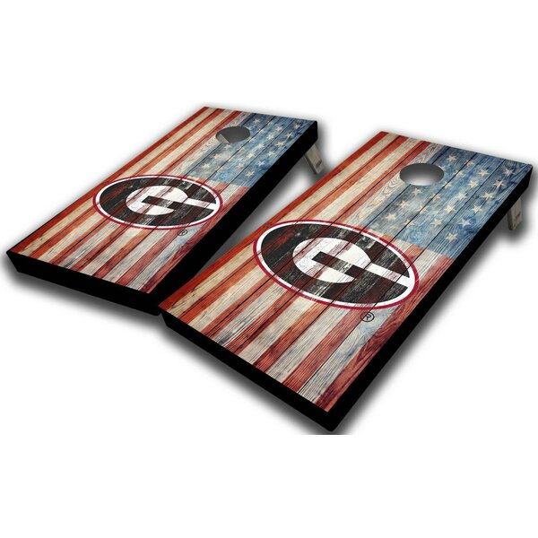 University of Georgia American Flag 10 Piece Cornhole Set by West Georgia Cornhole