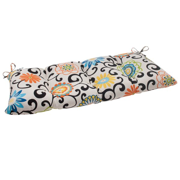 Pom Pom Indoor/Outdoor Loveseat Cushion by Pillow Perfect