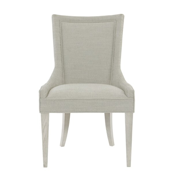 Criteria Upholstered Solid Back Arm Chair in Gray (Set of 2) by Bernhardt Bernhardt