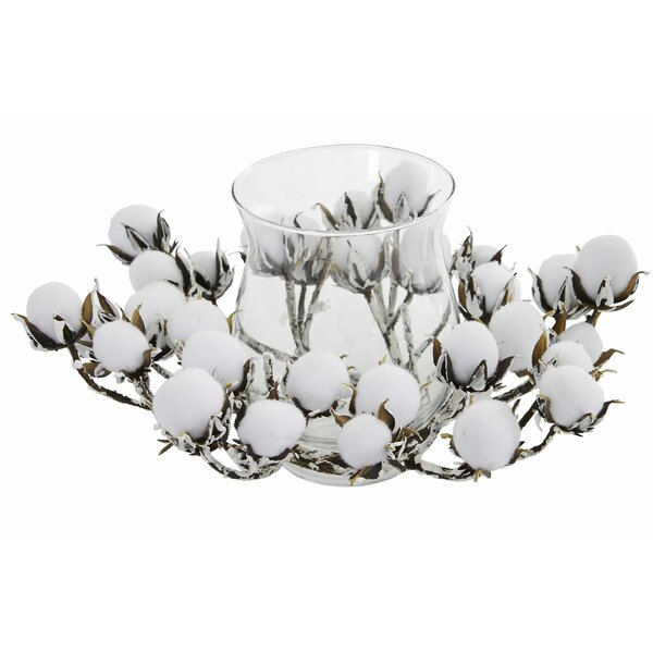Cotton Artificial Arrangement Mixed Candelabrum by Gracie Oaks