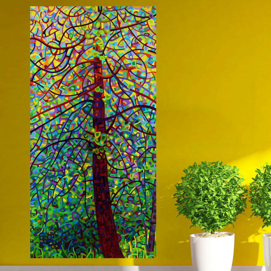 My Wonderful Walls Abstract Forest Kaleidoscope Wall Decal & Reviews ...