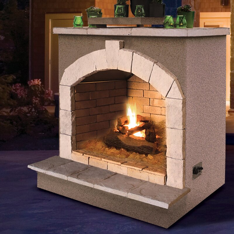 Porcelain Gas Outdoor Fireplace
