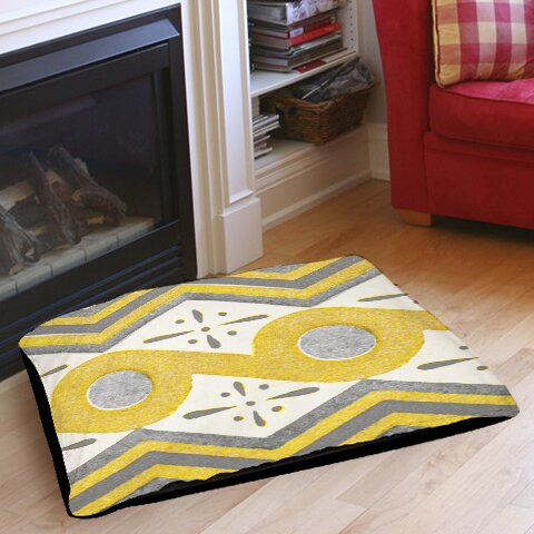 Citron and Slate 2 Indoor/Outdoor Pet Bed by Manual Woodworkers & Weavers