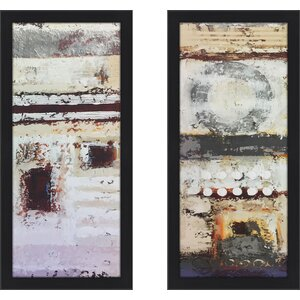 'Sometimes Silence I' 2 Piece Framed Print Set by Williston Forge