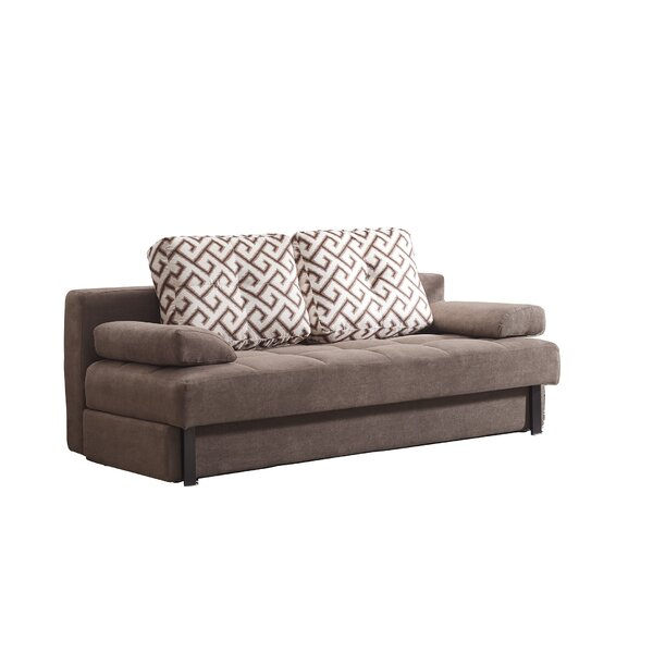 Review Tolna Contemporary Convertible Microsuede Sofa Bed 29