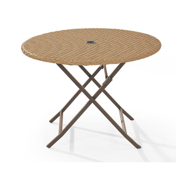 Brandy Folding Wicker Dining Table by Mistana
