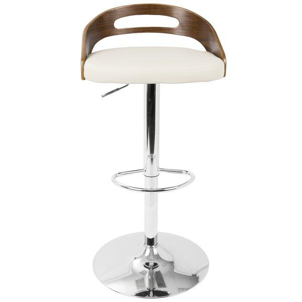 Zarate Adjustable Swivel Bar Stool by Brayden Studio