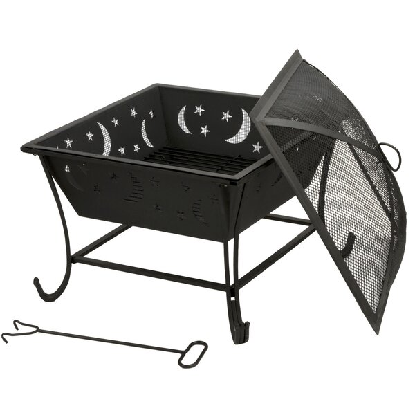 Luna Steel Wood Burning Fire Pit by DeckMate