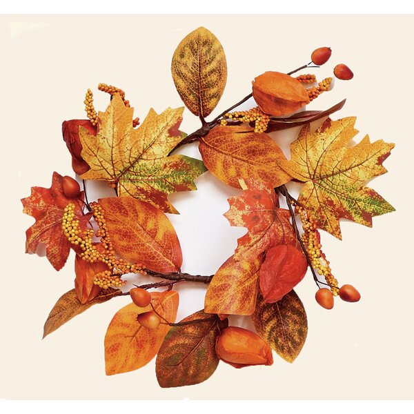Fall Candle Ring Wreath (Set of 2) by August Grove