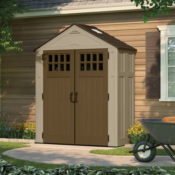 Everett 6 ft. 3 in. W x 2 ft. 9 in. D Plastic Tool Shed by Suncast