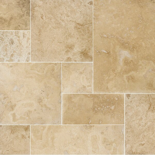 Modena Random Sized Travertine Field Tile in Beige by Parvatile