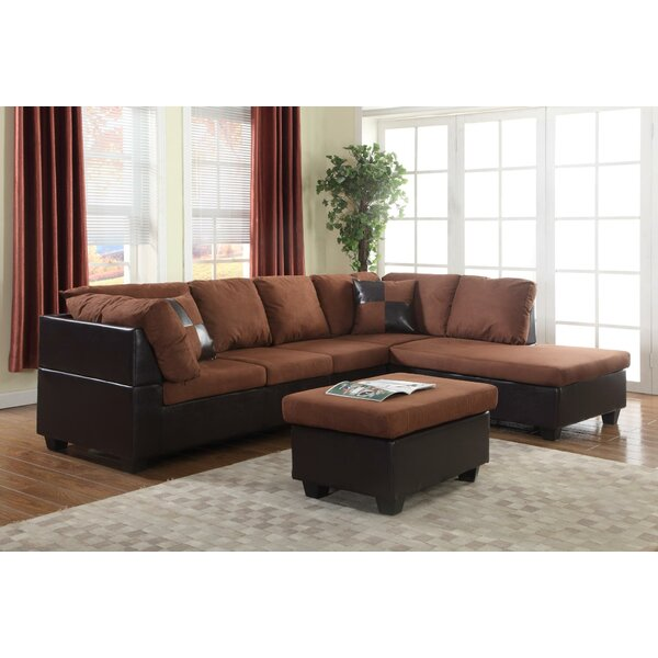 Soloman Sectional with Ottoman by Global Trading Unlimited