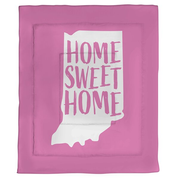 Home Sweet Indiana Single Reversible Comforter