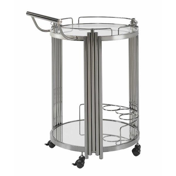 Pauly Metal Bar Cart by Mercer41 Mercer41