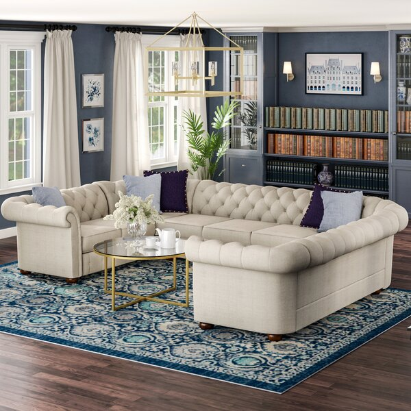 Gowans Symmetrical Sectional Collection By Three Posts