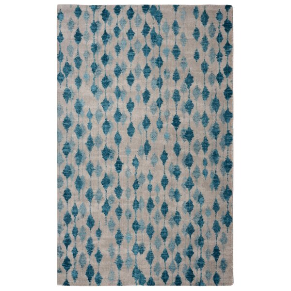 Victorine Pendant Contemporary Modern Blue/Ivory Area Rug by Ivy Bronx