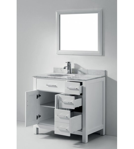 Celize 36 Single Bathroom Vanity Set with Mirror by Bauhaus Bath