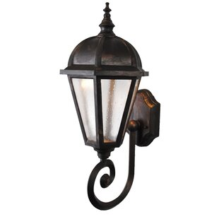 Great Price Flannigan 1-Light Outdoor Sconce By Charlton Home