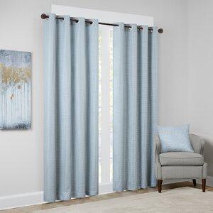 Malden Solid Room Darkening Grommet Single Curtain Panel