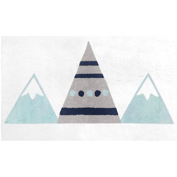 Gray/White Mountains Tufted Cotton Area Rug by Sweet Jojo Designs