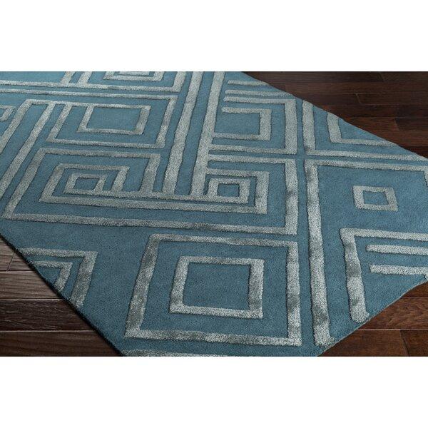 Vazquez Hand-Tufted Blue Area Rug by Wrought Studio