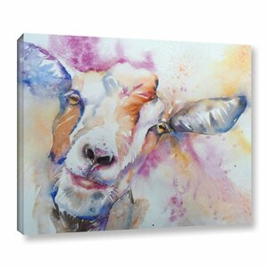 Goat Painting Print on Wrapped Canvas by Latitude Run