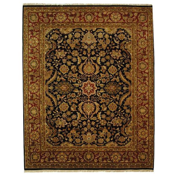Dynasty Black/Red Kashan Rug by Safavieh