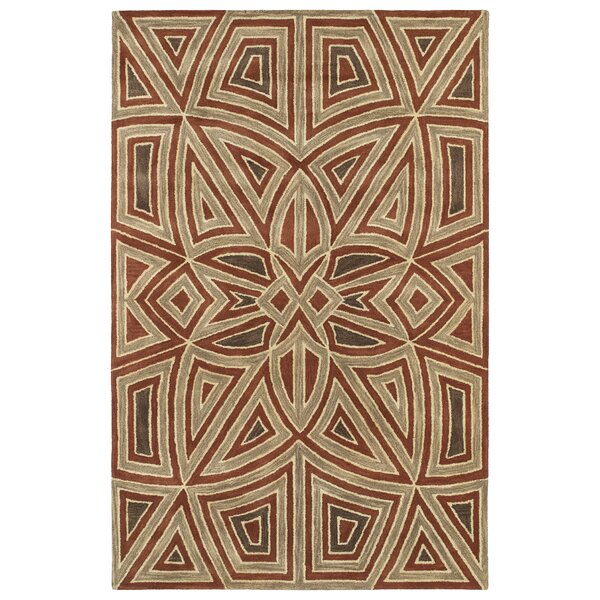 Devereaux Hand Tufted Brown/Beige Area Rug by Bloomsbury Market