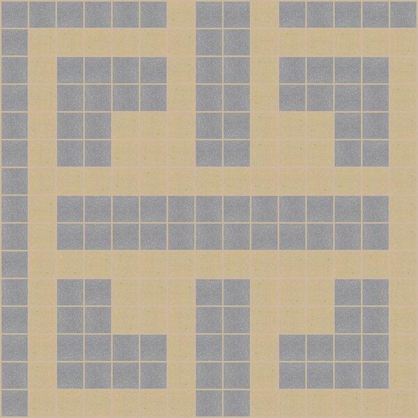 Urban Essentials Geometric Lattice 3/4 x 3/4 Glass Glossy Mosaic in Urban Khaki by Mosaic Loft