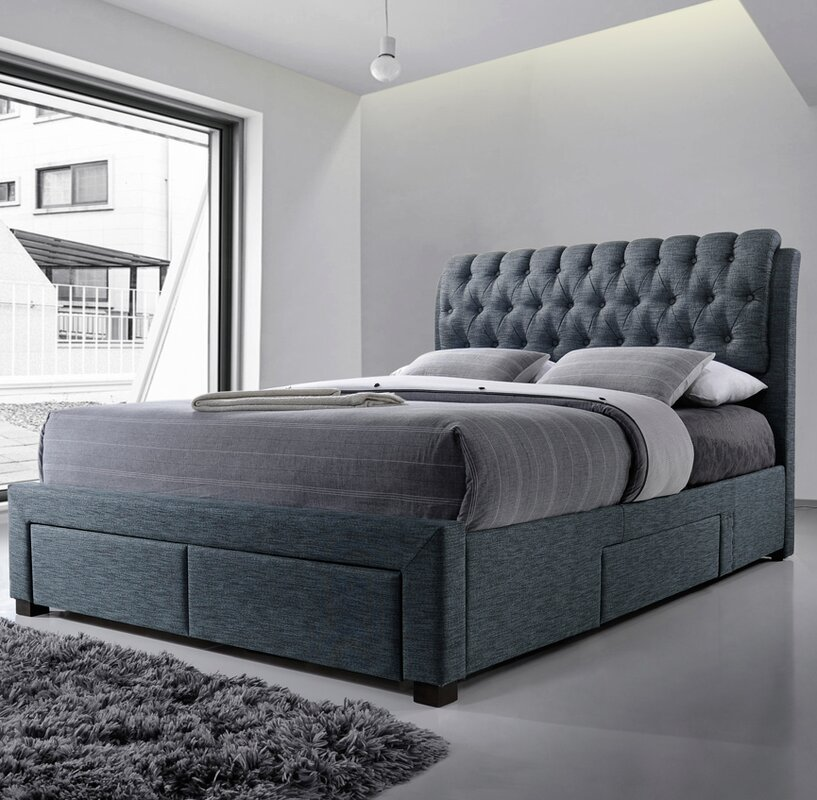 Home Loft Concept Belerda Upholstered Storage Bed Frame