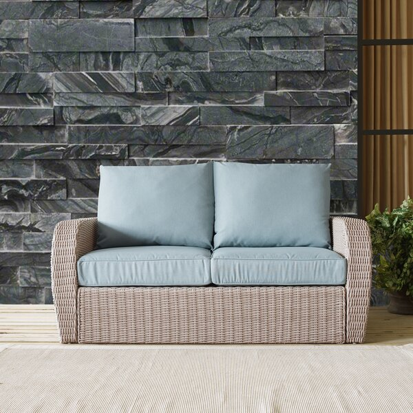 Baumeister Wicker Loveseat with Cushion by Ivy Bronx Ivy Bronx