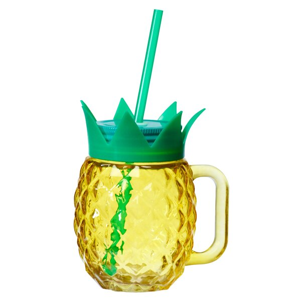 Paradise Pineapple 18 oz. Mason Jar (Set of 4) by Global Amici