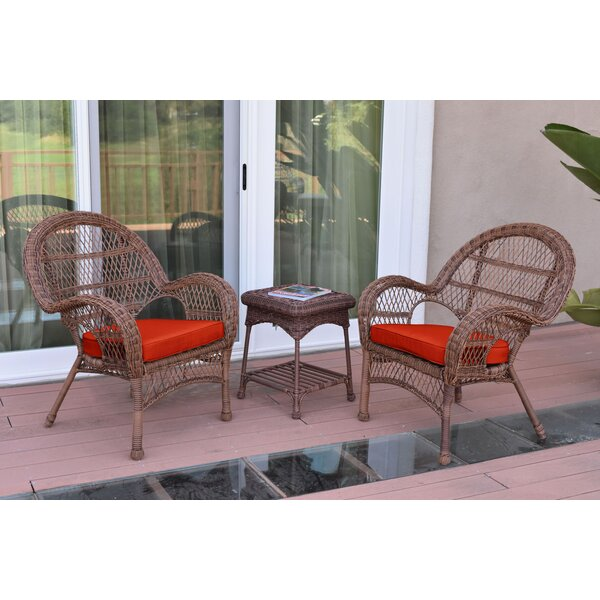 Mangum 3 Piece Conversation Set with Cushions by August Grove