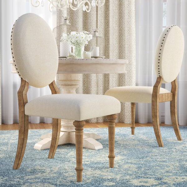 Baggett Oval Upholstered Dining Chair (Set of 2) by Lark Manor