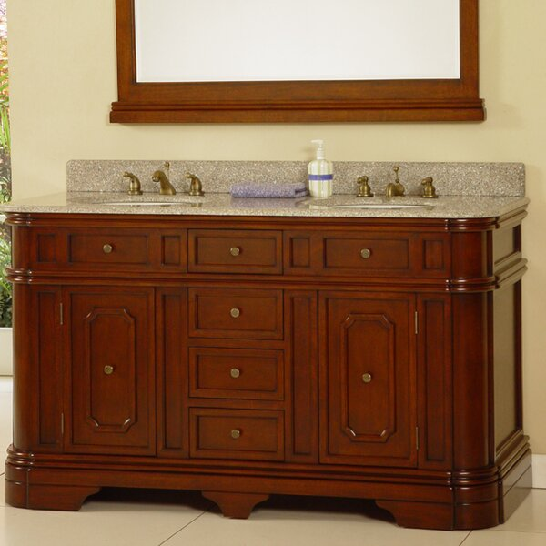 60 Double Bathroom Vanity Set by Lanza