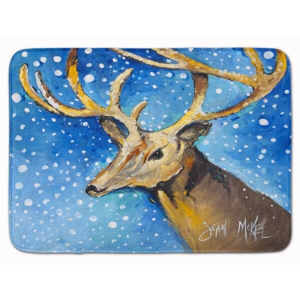 Reindeer Memory Foam Bath Rug