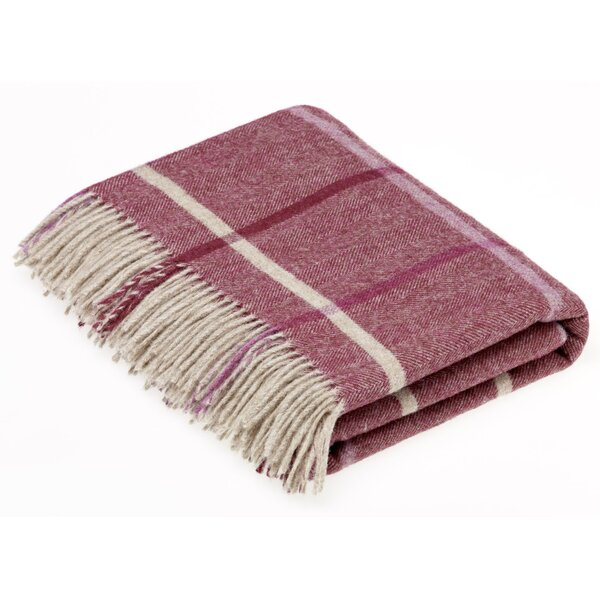 Brummitt Shetland Windowpane Wool Throw by Gracie Oaks