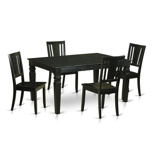 Sorrentino 5 Piece Dining Set by Charlton Home