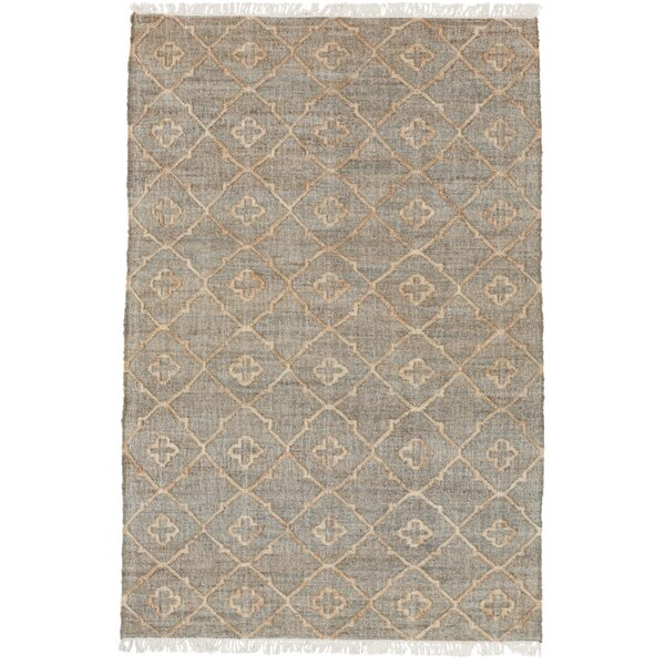 Avera Hand-Woven Gray Area Rug by Bungalow Rose