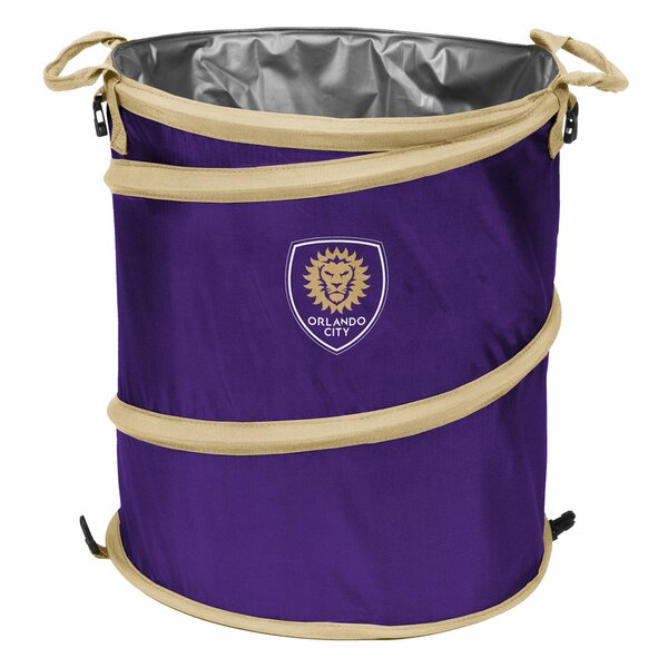 Orlando City SC Collapsible 13 Gallon Trash Can by Logo Brands