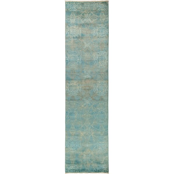 One-of-a-Kind Courter Hand Knotted Wool Green Area Rug by Bungalow Rose