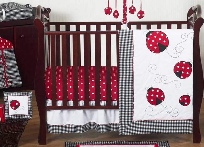 Ladybug 11 Piece Crib Bedding Set