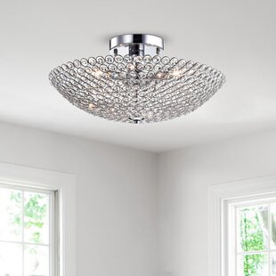 Best Reviews Brushwood 3-Light Semi Flush Mount By Rosdorf Park